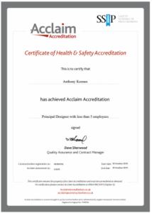 Keenan CDM achieves Acclaim (SSIP) Health & Safety Accreditation