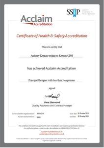 Keenan CDM's Acclaim Certification for Principal Designer Service