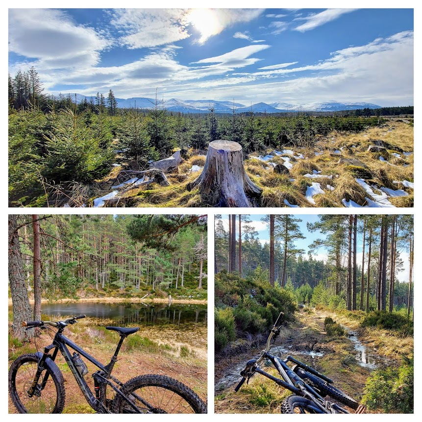 Recharging the batteries with a mtb ride in the cairngorms