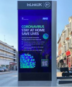 Coronavirus Information Board in City Centre